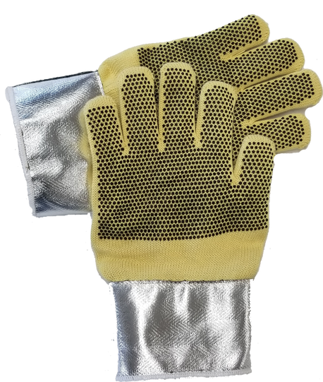 TSG-3150-1-SBD silicone dotted glove for heat protection