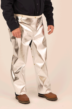 Front of aluminized chaps